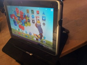 Das Samsung galaxy note tablet 10.1