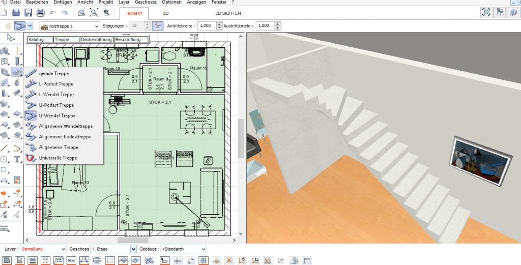 die beste software zur wohnungs und hausplanung testbericht. Black Bedroom Furniture Sets. Home Design Ideas