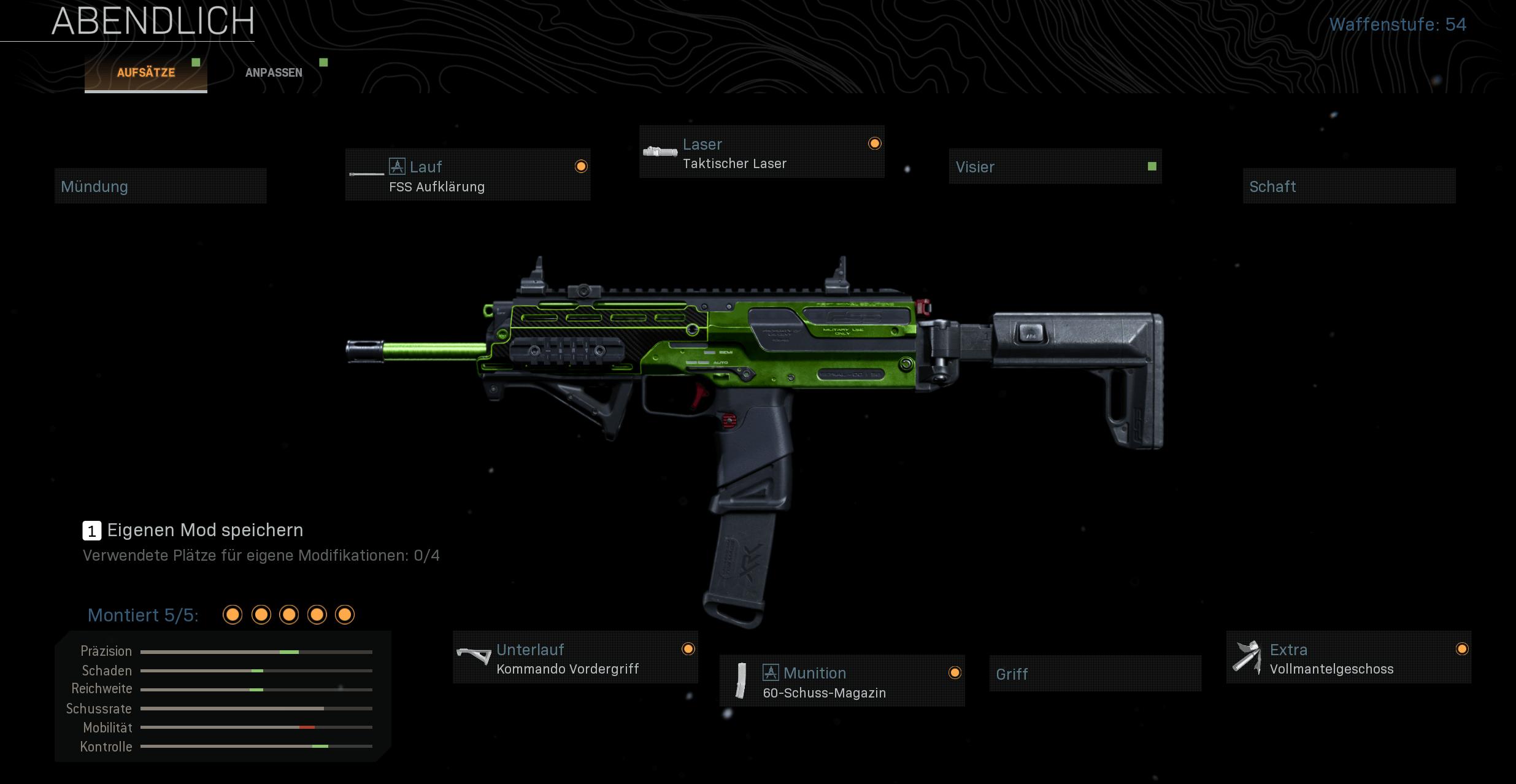 MP7-Setup ohne Schalldämpfer
