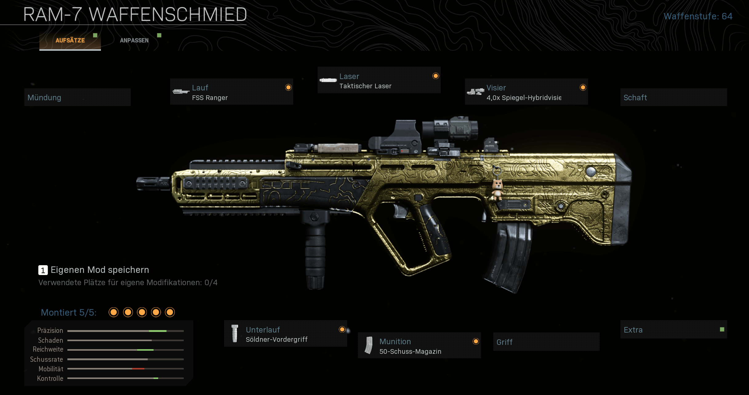 Alternatives RAM-7 Waffen-Setup mit nur einer Hauptwaffe und Geist